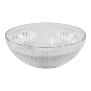 Vintage Emerald Cut Pattern Glass Bowl