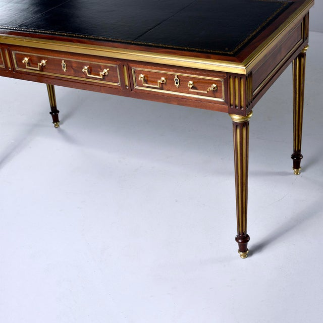 Louis XVI Louis XVI Style Mahogany Writing Desk With Brass Mounts For Sale - Image 3 of 13