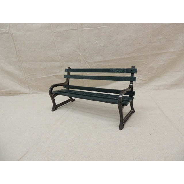 """Late 20th Century Vintage Metal and Wood """"Salesman"""" Sample of Park Bench For Sale - Image 5 of 5"""