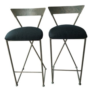 Vintage Modern Shaver Howard Bar Stools - a Pair