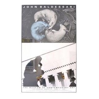 Signed John Baldessari Exhibition Poster - LA 1990 For Sale