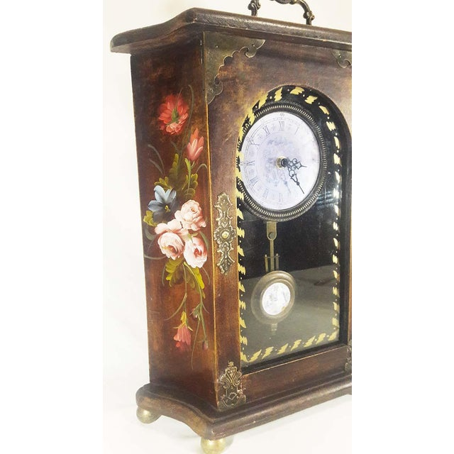 Vintage Mantel Pendulum Clock - Image 2 of 7