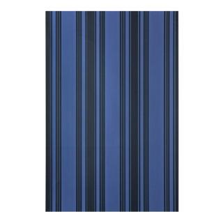 Farrow & Ball Tented Stripe Deep Blues Wallpaper - 2 Rolls