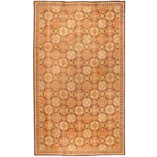 Antique Oversize English Pile Carpet For Sale
