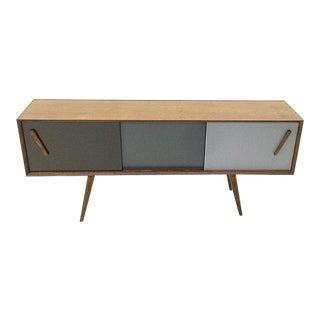 Parker Black Walnut Credenza For Sale
