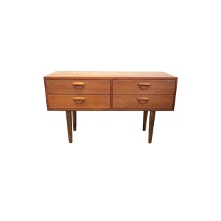 1960s Danish Modern Kai Kristiansen Teak Entry Desk For Sale