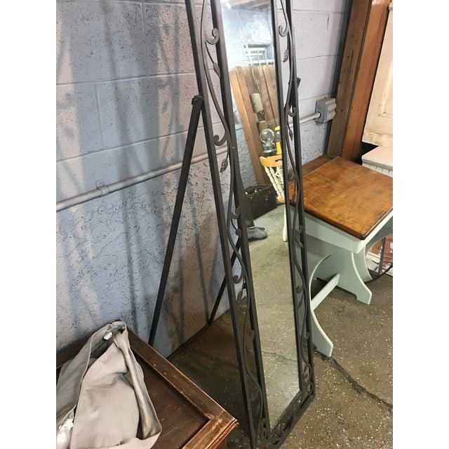 Metal Leaves Design Free Standing Mirror - Image 4 of 6