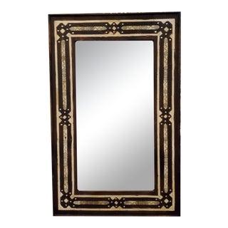 Medium Size Moroccan Rectangular Resin Inlay Mirror For Sale