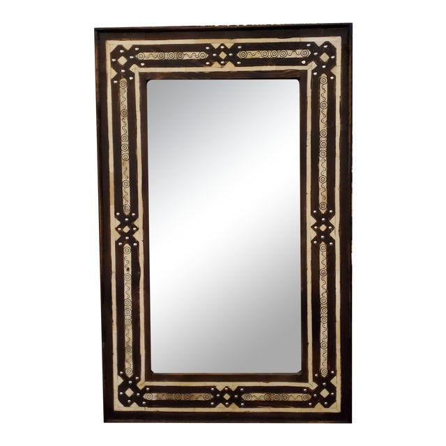 Medium Size Moroccan Rectangular Resin Inlay Mirror For Sale