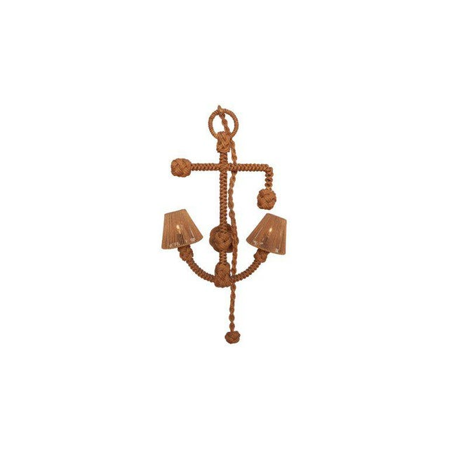 Mid-Century Modern Audoux Minet 'Anchor' Rope Sconce For Sale - Image 3 of 10
