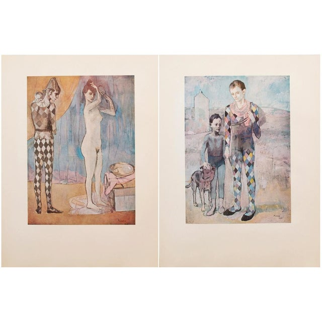 1950s Picasso, Original Period Blue Harlequin Lithographs - a Pair For Sale - Image 12 of 13