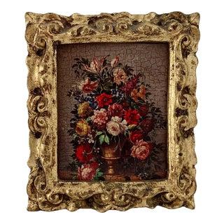 1940s Vintage Italian Flower Framed Print For Sale