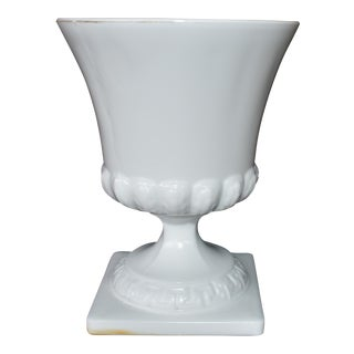 Footed Milk Glass Vase