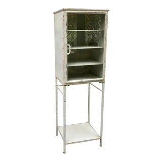 Mid-Century Metal Medical Cabinet For Sale