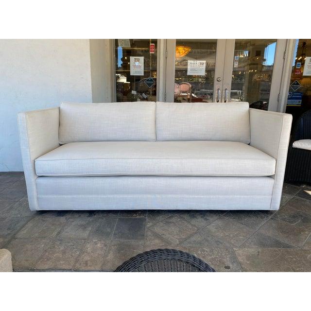 New Miles Talbott Custom Landry Sofa + White Crypton Upholstery For Sale - Image 9 of 9