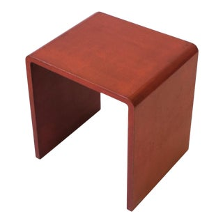 70s Modern Waterfall Side or End Table For Sale