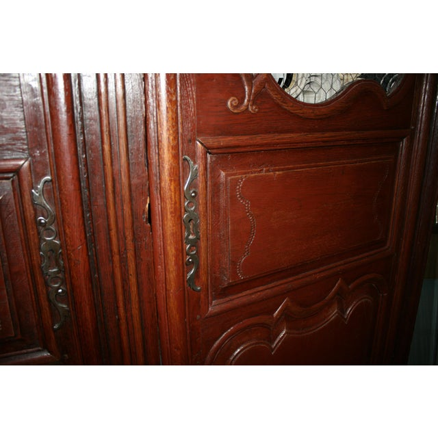 English Hand Carved Armoire For Sale - Image 4 of 9