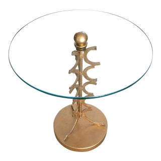Vintage Glass Coffee Table For Sale