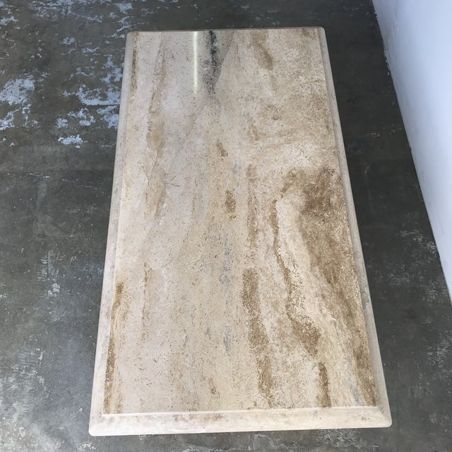 Stone Solid Travertine Coffee Table For Sale - Image 7 of 12