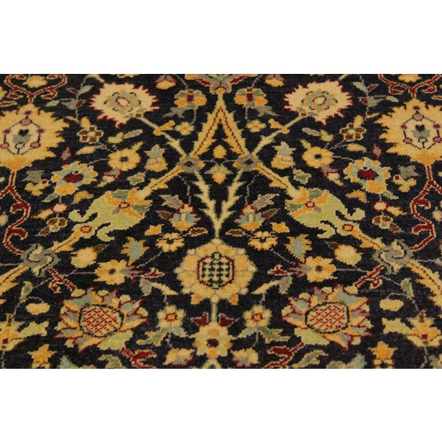 Shabby Chic Istanbul Cristoph Blue/Red Turkish Hand-Knotted Rug -4'1 X 6'1 For Sale - Image 4 of 8