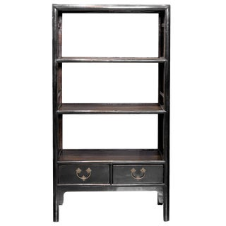 Chinese Export Handmade Lacquered Étagère Display Bookcase, Circa 1910 For Sale