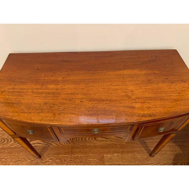 English Antique English Vanity Small Desk Mahogany For Sale - Image 3 of 11