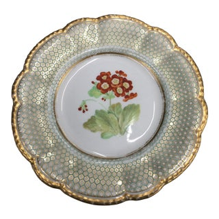 Antique English Wall Plate With Primrose