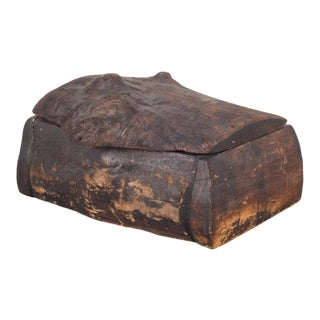 Handmade Rustic Wooden Box C.1940-1960 For Sale