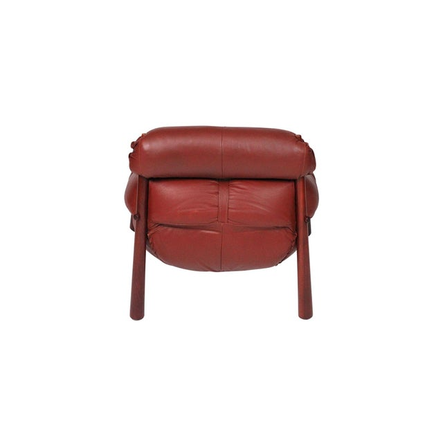 1960s Brazilian Leather Lounge Chair by Percival Lafer For Sale - Image 5 of 13