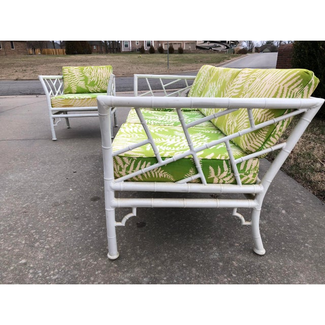 Stupendous Vintage Meadowcraft Faux Bamboo Outdoor Patio Set Interior Design Ideas Apansoteloinfo
