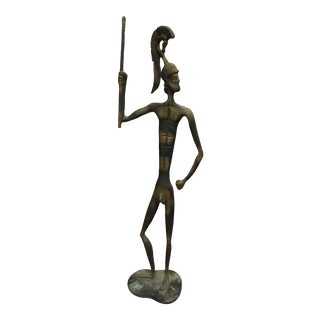 Sculpture - Vintage Figurative Iron Sculpture For Sale
