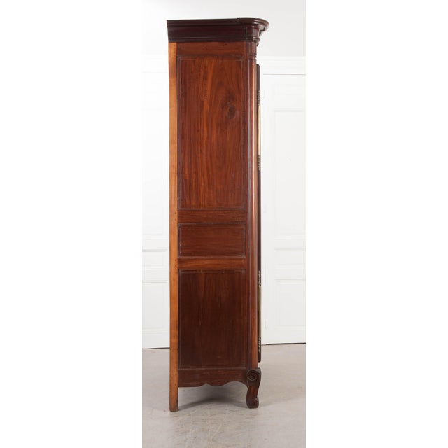 Late 18th Century 18th Century French Mahogany Armoire from the Port of Normandy For Sale - Image 5 of 13