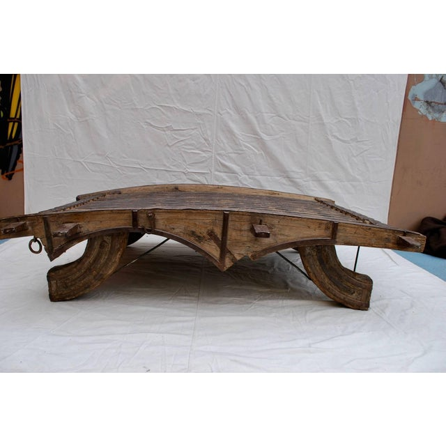 What a beautiful coffee table, made with teak wood, so it could be indoor or outdoor, it is quit heavy over 250 pounds, it...