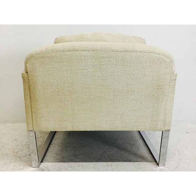 Pair of Donghia Focal Deco Style Lounge Chairs For Sale In Dallas - Image 6 of 8