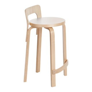 Authentic High Chair K65 in Birch with Laminate Seat by Alvar Aalto & Artek For Sale