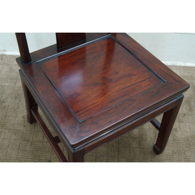 Chinese Rosewood Dining Chairs - Set of 4 - Image 5 of 10