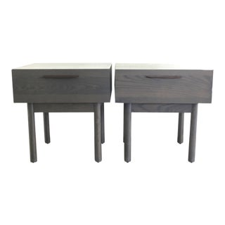 Blu Dot Shale Night Stands/Tables - A Pair For Sale