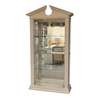 Neo Classic Style Huffman-Koos Two Door Curio W/Crackle Finish