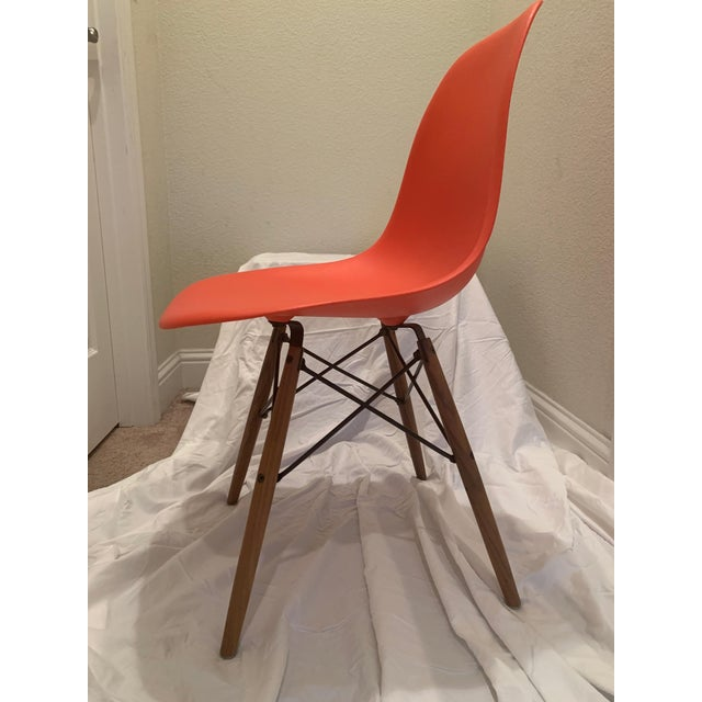 2010s Eames Molded Plastic Dowel-Leg Side Chairs - a Pair For Sale - Image 5 of 6