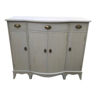 1960s Shabby Chic Painted Mahogany Buffet For Sale