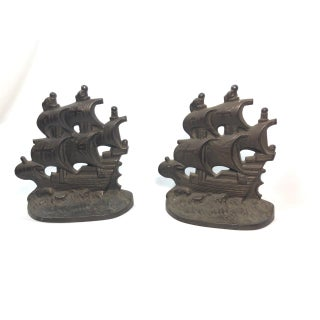 Vintage Galleon Bookends - a Pair Preview