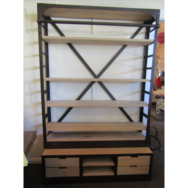 1950's Dutch Open Shelving Unit from Restoration Hardware. In excellent condition and a perfect industrial shelving unit....