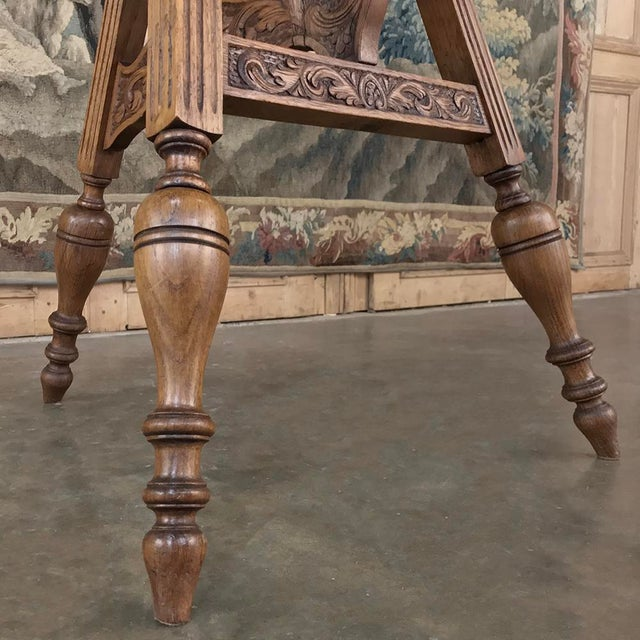 Wood 19th Century Round Tripod Folding End Table For Sale - Image 7 of 13