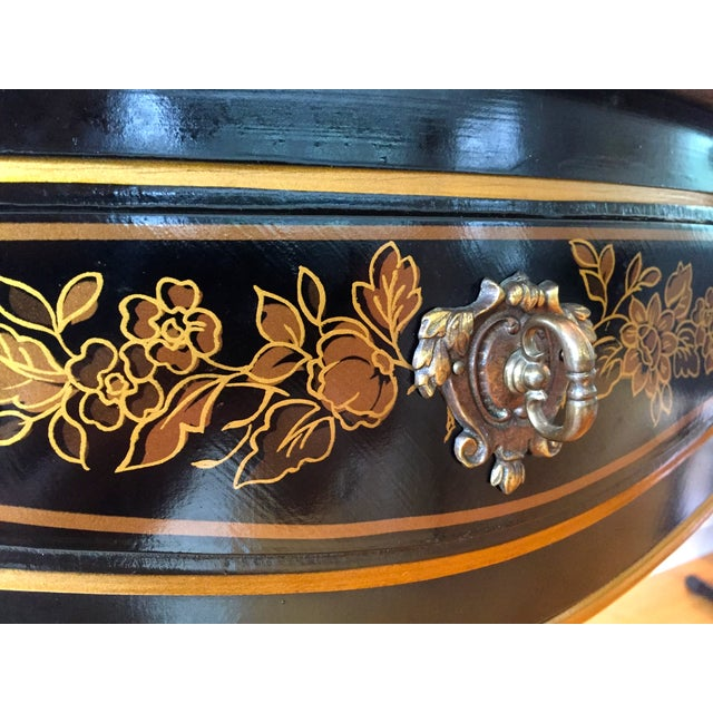 Drexel Chinoiserie Leather Writing Desk & Chair - Image 7 of 11