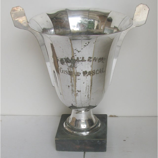 Very Large French Vintage Silver Urn Trophy For Sale - Image 6 of 8