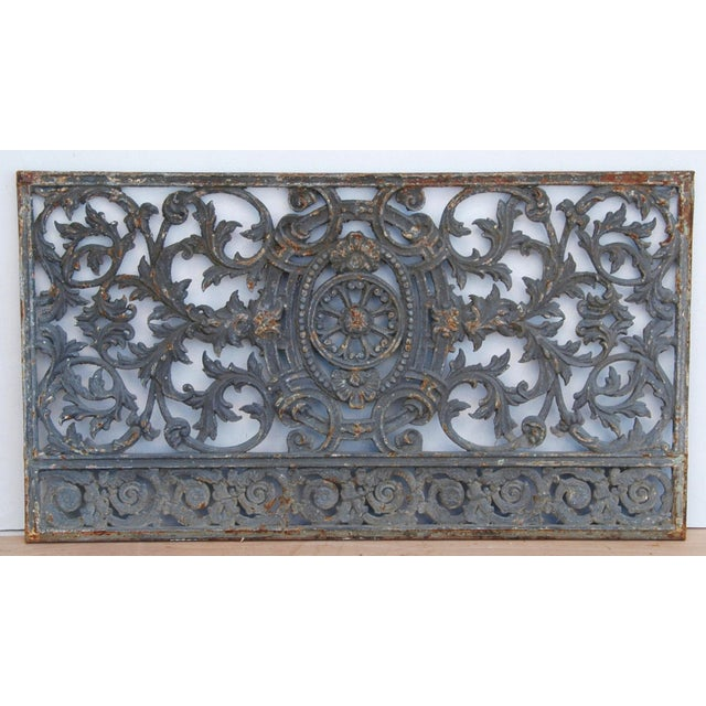 Antique 19th C. French Iron Architectural Panel - Image 8 of 11