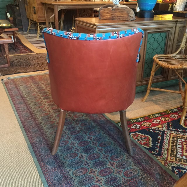 Newly Upholstered Vintage Chair in Leather - Image 5 of 5