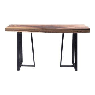 Industrial Rectangular Acacia Wood Console Table - 59x16 For Sale