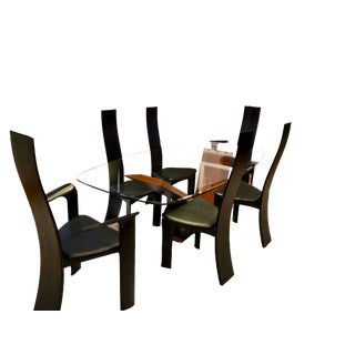 1990s Vintage Cattelan Italia Valentino Style Dining Set - 7 Pieces For Sale