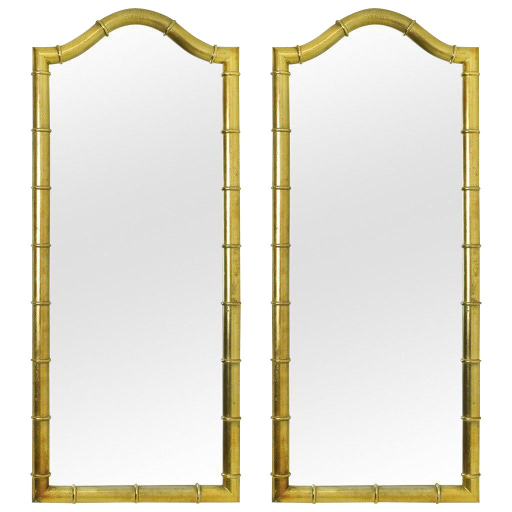 Superb Drexel Mirrors In Faux Bamboo With Gold Leaf Finish